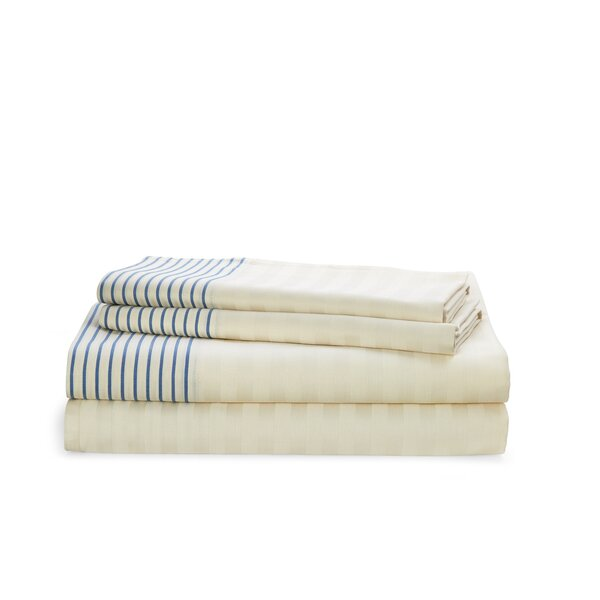 Josephina Stripe 212 Thread Count 100% Cotton Sheet Set by Lauren Ralph Lauren